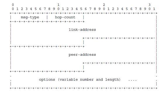 服务器与中继代理之间的报文——摘自RFC3315