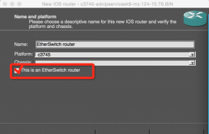 2.GNS3,勾选This is an EtherSwitch Router
