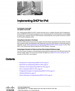 Implementing DHCP for IPv6