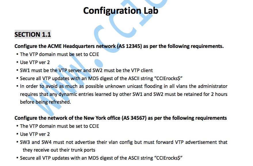 CCIE RS V5.0 LAB1 Section 1.1