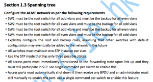 CCIE RS V5考试LAB1实验详解:Section 1.3 Spanning tree