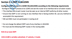 CCIE RS V5考试LAB1实验详解:Section 2.1 OSPF in AS12345