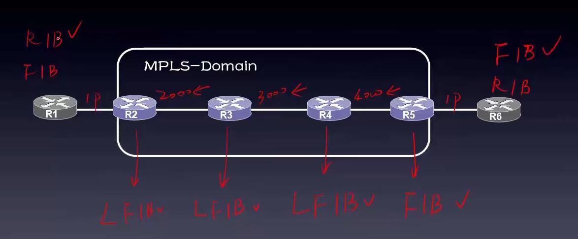 MPLS在转发数据包的过程中所用到(查找)的表