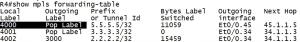 MPLS L3VPN为什么要使用两层MPLS标签?R4上show mpls forwarding-table