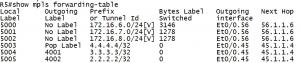 MPLS L3VPN为什么要使用两层MPLS标签?R5上show mpls forwarding-table