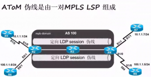 AToM伪线是由一对MPLS LSP组成