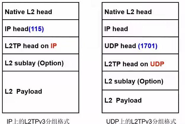 L2TPv3的数据包报头结构
