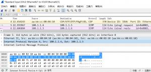 在 IOU6 上 ping 100.1.1.5 时,IOU2 的 e 0/1 口上的抓包