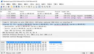 在 IOU8 上 ping 200.1.1.9 时,IOU2 的 e 1/0 口上的抓包