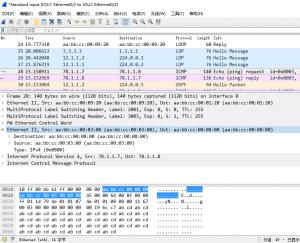 IOU7上ping 78.1.1.8,IOU1的e 0/2口上的抓包
