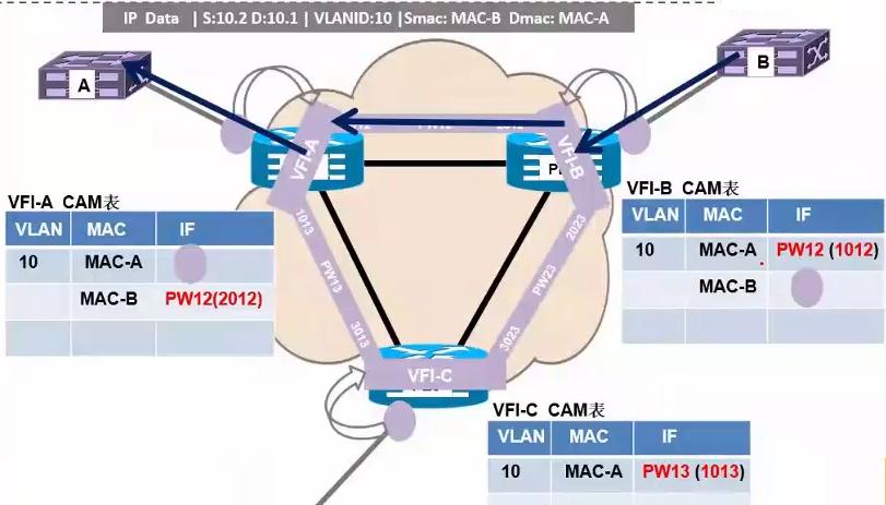 VFI的MAC学习过程以及水平分割