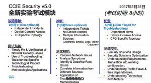 CCIE Security v5.0,全新实验考试模块