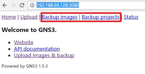 先导出旧的 GNS3 IOU VM 虚拟机中的项目文件和镜像文件