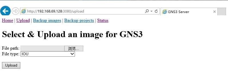 GNS3 IOU VM 的 web 端控制界面