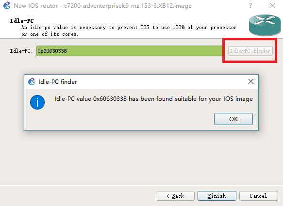 """最后一步是计算出一个合适的 Idle-PC 值,点击那个 """" Idle-PC finder """" 按钮即可自动计算"""