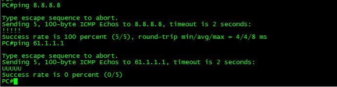 PC 可以 ping 通 8.8.8.8,但是 ping 不通 61.1.1.1