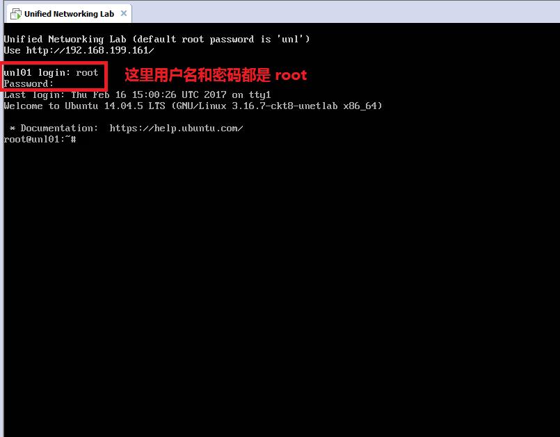 这里的 Ubuntu Linux 的用户名是:root,密码也是:root