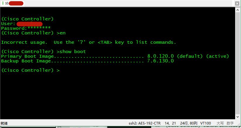 CLI 方式检查当前镜像版本(show boot)