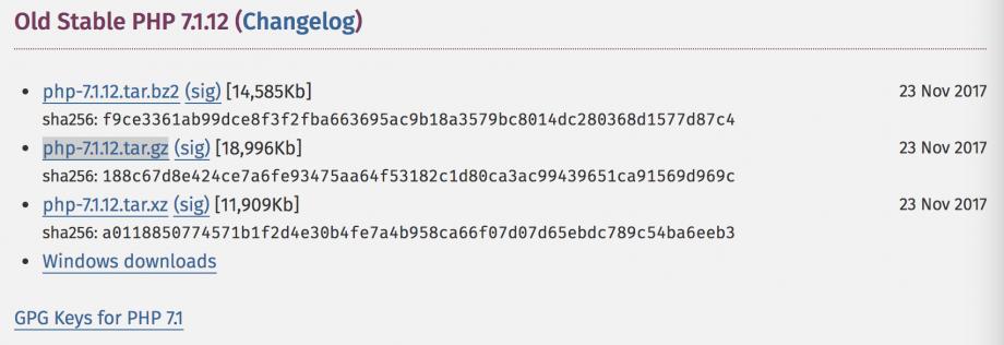 下载最新版的 PHP(2)