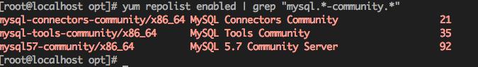 成功安装 MySQL yum 源
