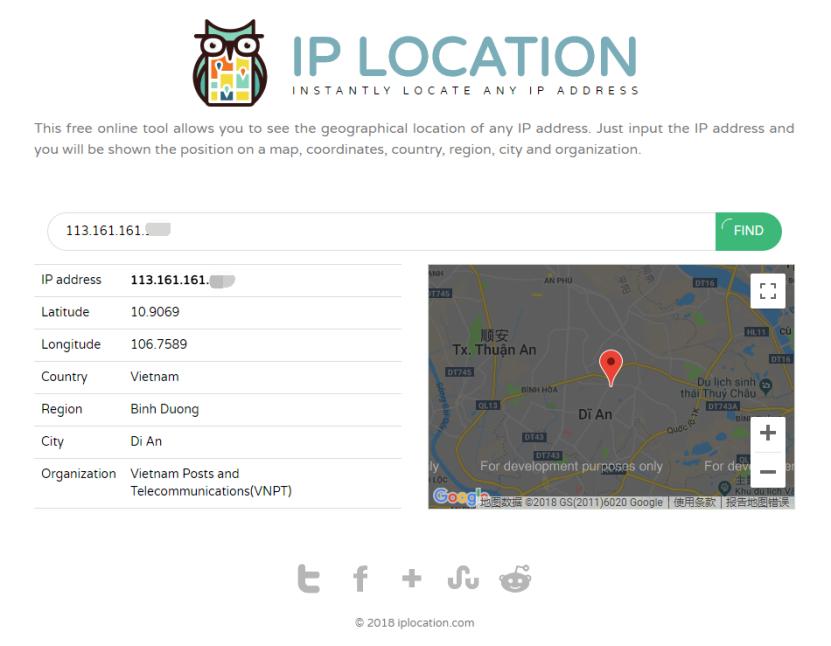 可疑 IP 归属地查询
