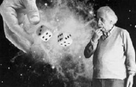 """爱因斯坦认为:"""" 上帝不掷骰子。"""""""
