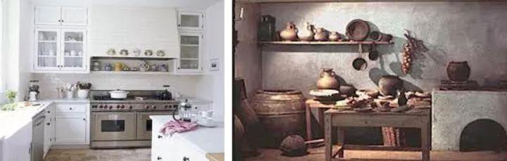 现代厨房与古代厨房