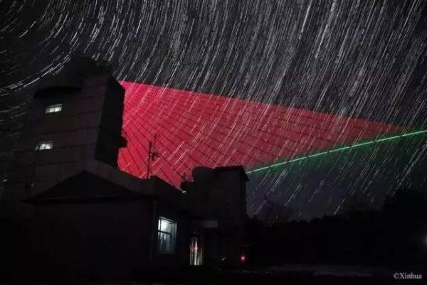 星轨背景下墨子号量子卫星与兴隆站用信标光对准
