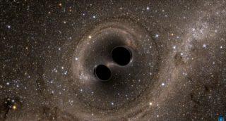 双黑洞合并产生引力波
