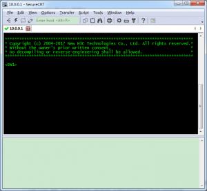 SecureCRT 成功连上 H3C 交换机