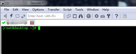 使用 SecureCRT 来 SSH 登录这台服务器