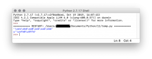Python 2.7.17 的中文字符编码