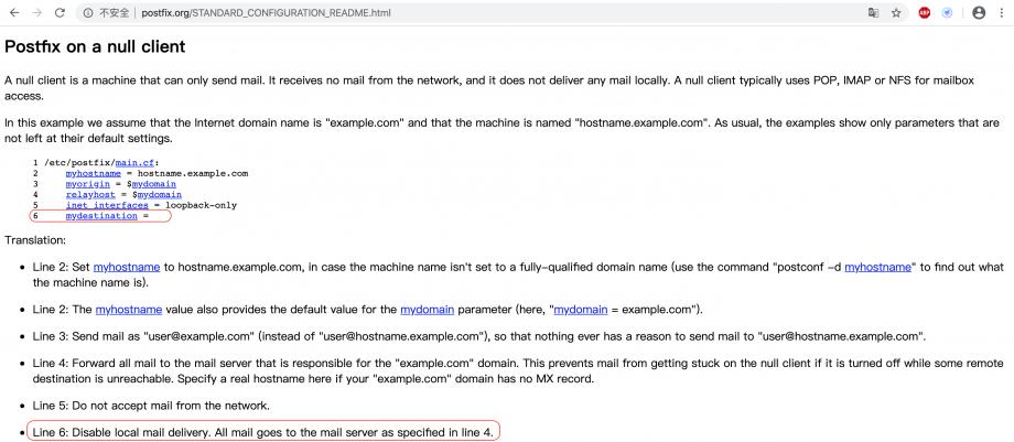 Postfix 官网上的一个例子